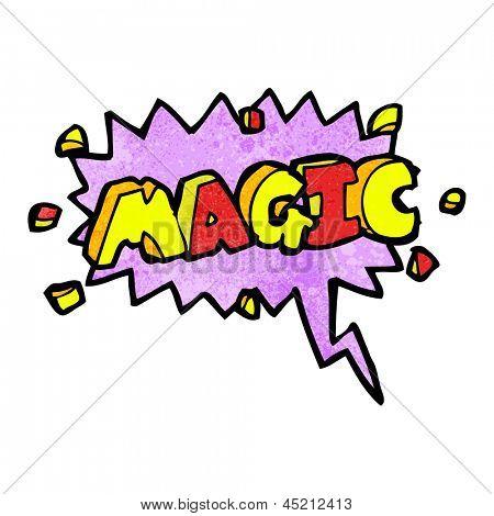 comic book magic shout symbol