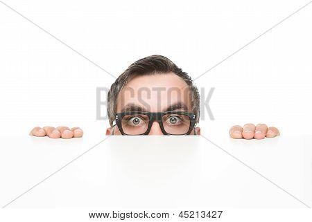 Funny Nerd Peeking