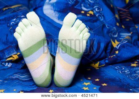 Green Striped Socks