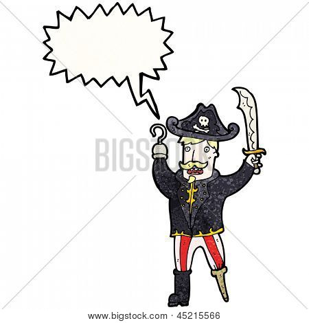cartoon shouting pirate captain