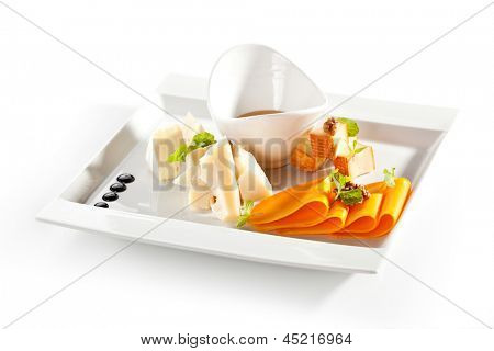 Cheese Platter with Honey