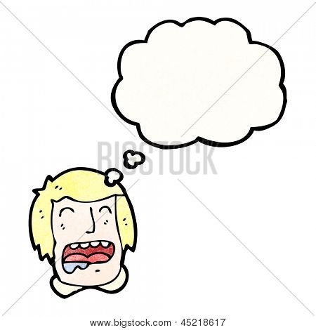 cartoon man drooling