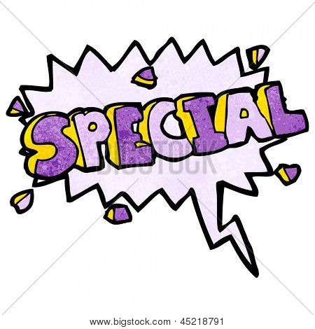 comic book special shout symbol