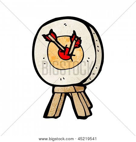 cartoon archery target