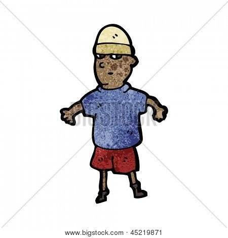 cartoon boy wearing hat