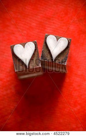 Letterpress Hearts