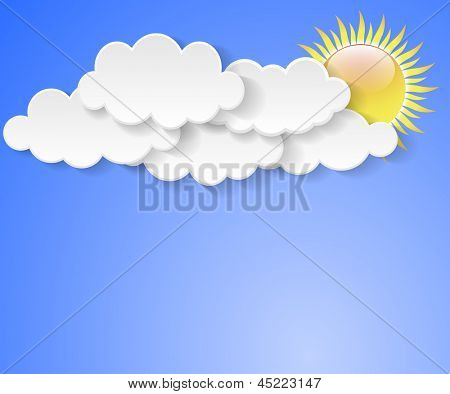 Illustration messages in the form of clouds. Vector.
