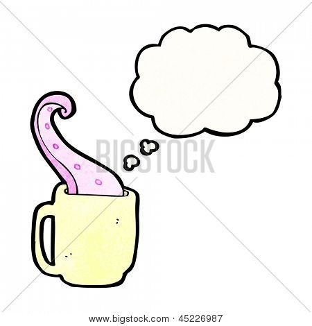 tentacle in tea cup cartoon