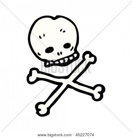 cartoon skull and crossbones symbol