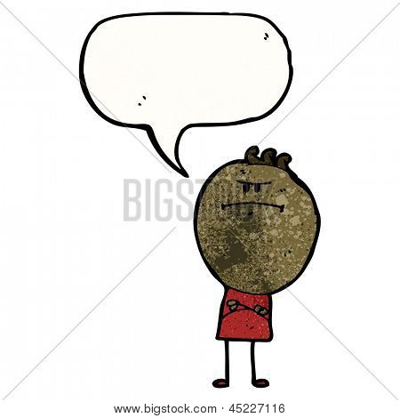 cartoon annoyed doodle man