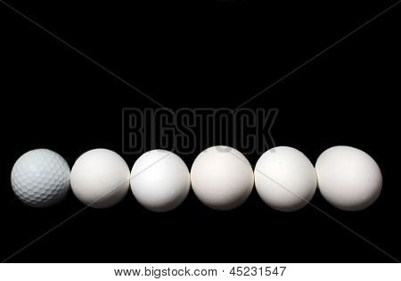 Golf Ball and Eggs