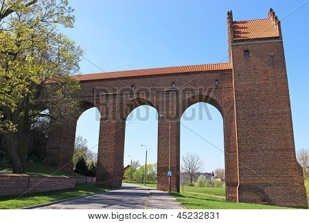 Medieval Teutonic castle in Kwidzyn. Poland