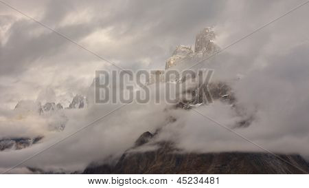 Trango Towers Hidden In The Clouds