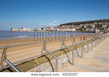 Weston-super-Mare promenade and seafront Somerset England UK