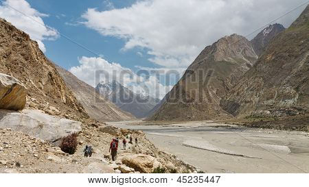 Trekking Along The Braldu River, Pakistan