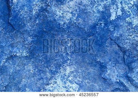 Abstract Stone In Blue Background