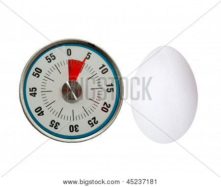 five minute boiled egg with timer