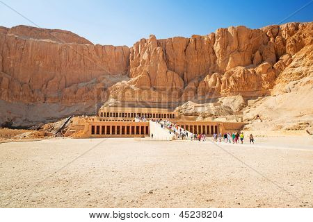The Mortuary Temple of Queen Hatshepsut located near the Valley of the Kings in Egypt