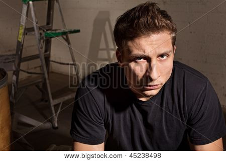 Angry Male With Ladder
