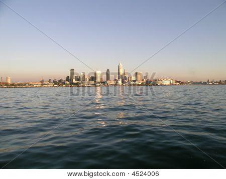 Cleveland horizonte al atardecer