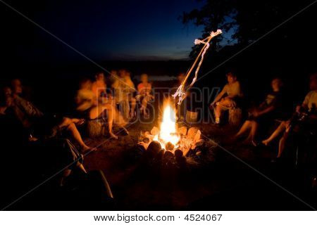 Twilight Camp Fire