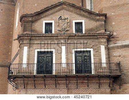 Balcony of Alaejos church