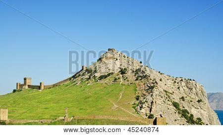 Ruins Of The Genoa Fortress In Sudak