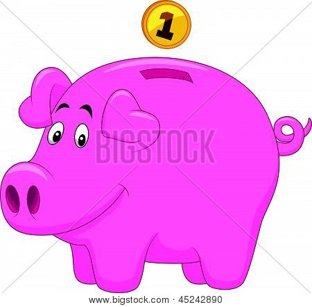 Piggy bank cartoon