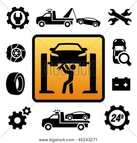 Auto-Reparatur-Symbol