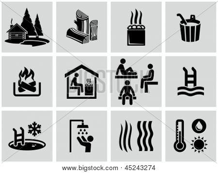 Iconos de la sauna