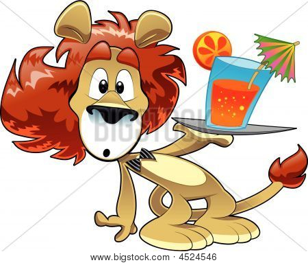 Lion With Drink