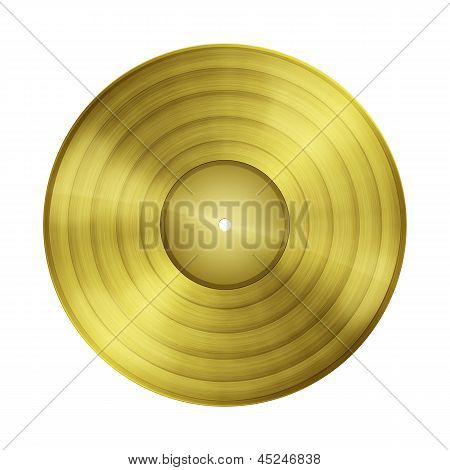 Blank Gold Record