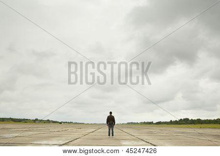 Man On Runway
