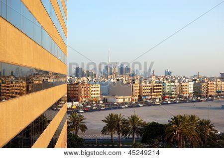 The View On Deira District From Skyscraper, Dubai, Uae