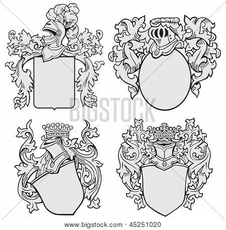 Set Of Aristocratic Emblems No1