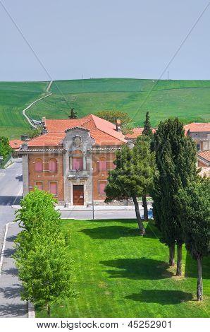 Panoramic view of Melfi. Basilicata. Southern Italy.