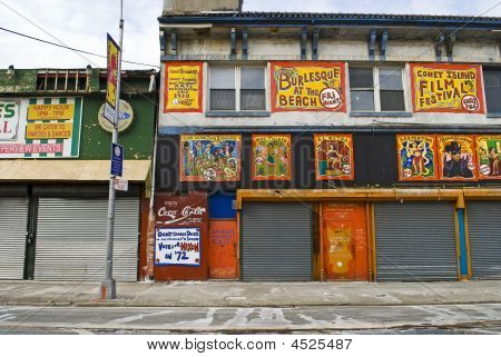 Coney Island Store Fronts