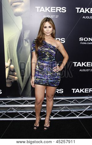 LOS ANGELES - AUG 4: Zulay Henao at the World Premiere of Takers, held at the Arclight Cinerama Dome in Los Angeles, California on 4 August 2010