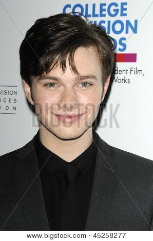 LOS ANGELES - APR 10: Chris Colfer at the Academy of Television Arts & Sciences celebration of the 31st Annual College Television Awards in Los Angeles, California on April 10, 2010.