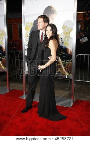 LOS ANGELES - FEB 1: Channing Tatum and wife Jenna Dewan arrives at the premiere of 'Dear John' held at the Grauman's Chinese Theater in Los Angeles, California on February 1, 2010