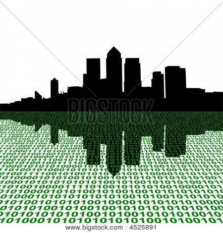 Docklands Skyline With Binary