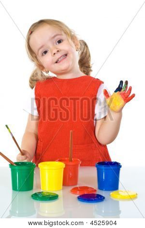 Happy Little Painter Girl