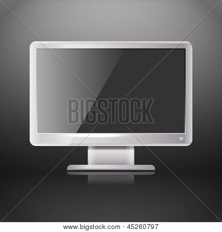 Modern lcd monitor with blank screen. Template for a content