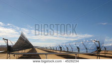 Solar Electric Generating System Rows