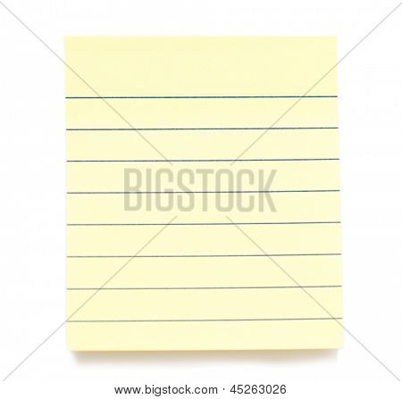 Post it paper stickers isolated over white background