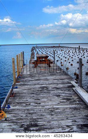 Dock Park In Marquette Michigan