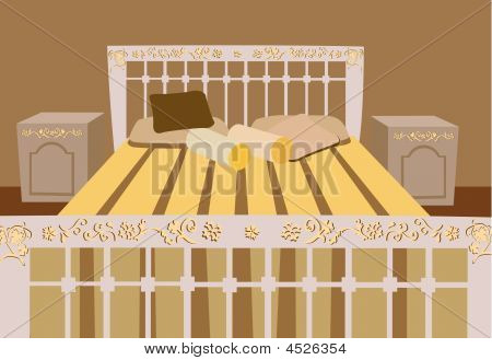Luxurious Bed Vector
