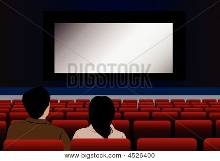 Vector Couple In Cinema