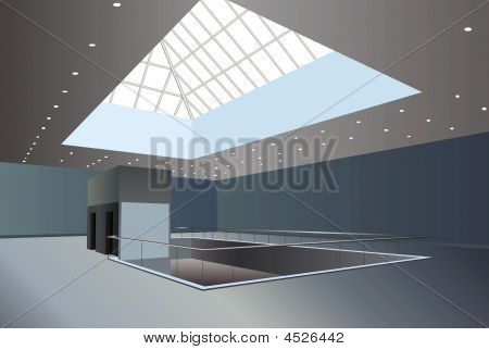 Business Center Interior Vector