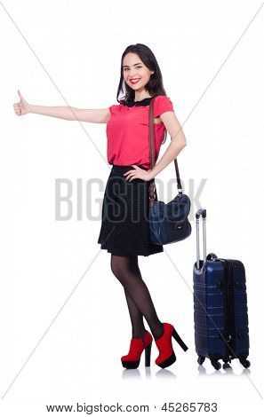 Woman preparing for summer vacation